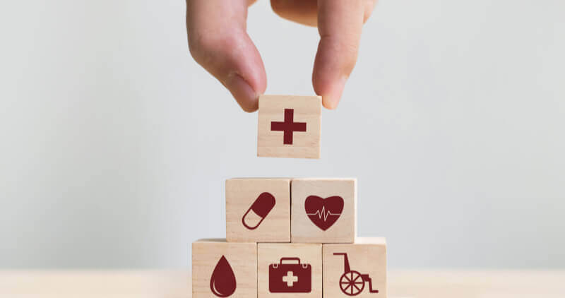 Healthcare symbol building blocks