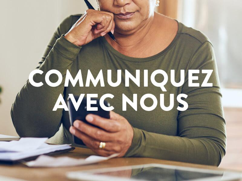 Bannière communiquez avec nous