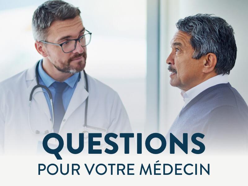 Bannière questions pour votre médecin