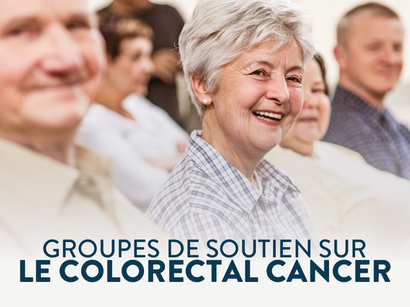 Bannière groupes de soutien sur le cancer colorectal