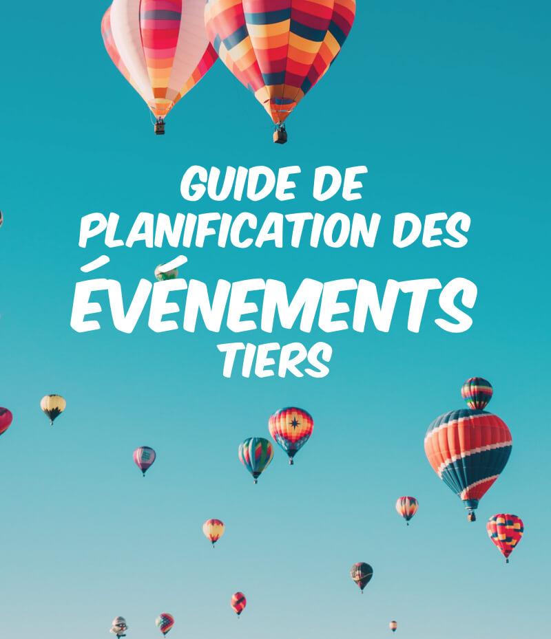 Bannière guide de planification des événements tiers