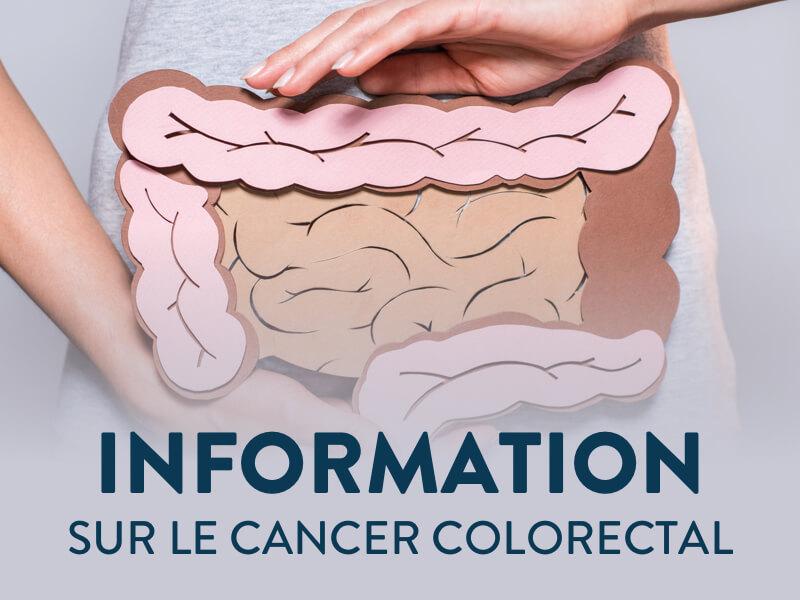 Bannière information sur le cancer colorectal